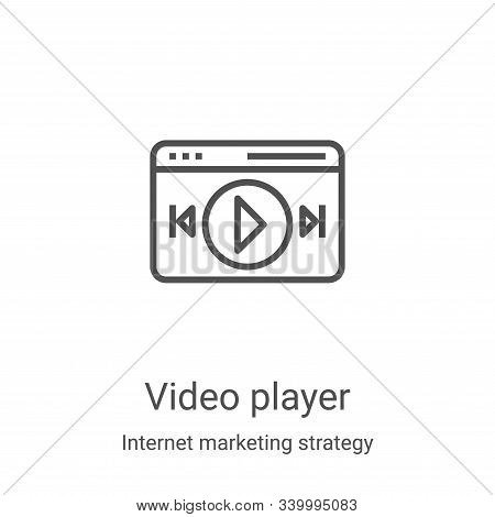 video player icon isolated on white background from internet marketing strategy collection. video pl