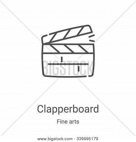 clapperboard icon isolated on white background from fine arts collection. clapperboard icon trendy a