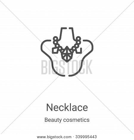 necklace icon isolated on white background from beauty cosmetics collection. necklace icon trendy an