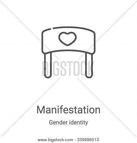 manifestation icon isolated on white background from gender identity collection. manifestation icon
