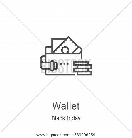 wallet icon isolated on white background from black friday collection. wallet icon trendy and modern