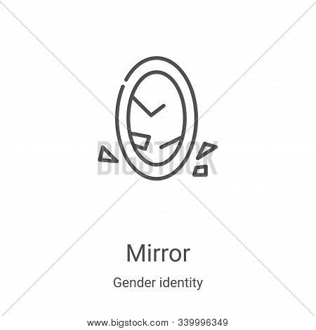 mirror icon isolated on white background from gender identity collection. mirror icon trendy and mod