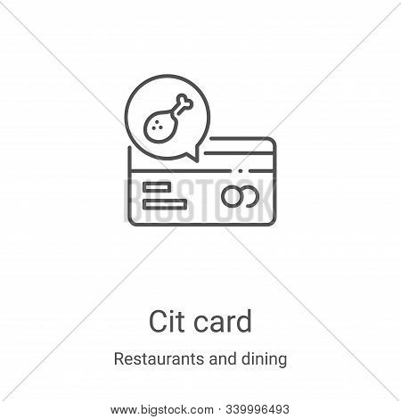 credit card icon isolated on white background from restaurants and dining collection. credit card ic