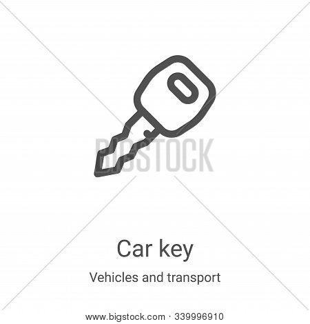 car key icon isolated on white background from vehicles and transport collection. car key icon trend