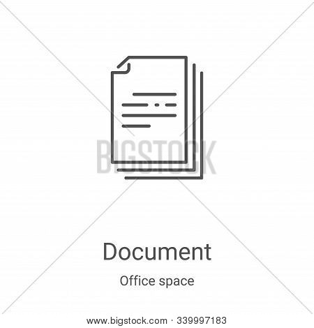 document icon isolated on white background from office space collection. document icon trendy and mo
