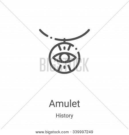 amulet icon isolated on white background from history collection. amulet icon trendy and modern amul
