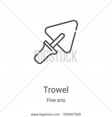 trowel icon isolated on white background from fine arts collection. trowel icon trendy and modern tr