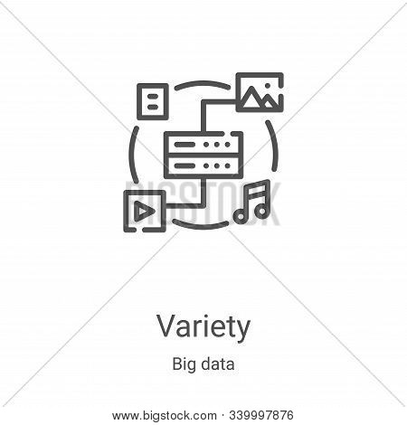 variety icon isolated on white background from big data collection. variety icon trendy and modern v
