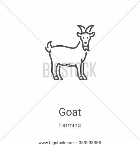 goat icon isolated on white background from farming collection. goat icon trendy and modern goat sym