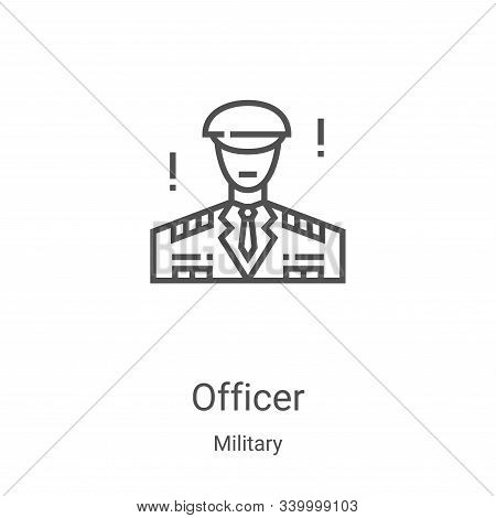 officer icon isolated on white background from military collection. officer icon trendy and modern o