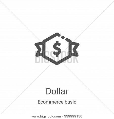 dollar icon isolated on white background from ecommerce basic collection. dollar icon trendy and mod