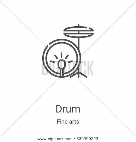 drum icon isolated on white background from fine arts collection. drum icon trendy and modern drum s