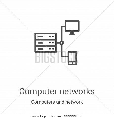 computer networks icon isolated on white background from computers and network collection. computer