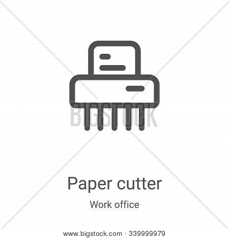 paper cutter icon isolated on white background from work office collection. paper cutter icon trendy