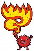 cartoon little fire spirit poster
