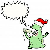cartoon drunk christmas party frog poster