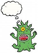 cartoon scary alien monster poster