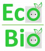 ecological concept symbolizing renewable energy bio energy poster