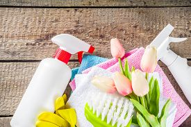 Spring Home Cleaning And Housekeeping Background