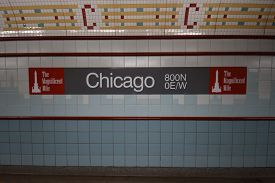Chicago, Il October 8, 2019, Cta Chicago Transit Authority Chicago Red Line El Subway Station Underg