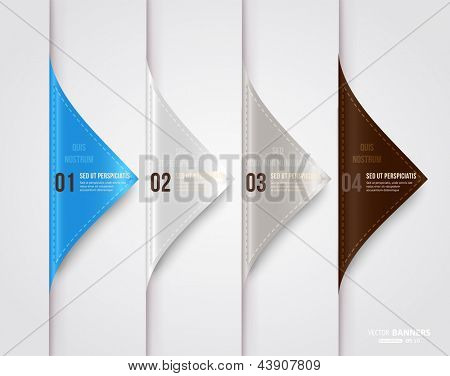 Modern infographic template for business design with ribbons. Can be used for banners, cards, paper designs, website layouts, diagrams and presentations. Vector eps10 illustration.