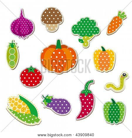 Cute Stitched Vegetable