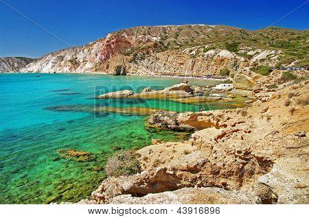 Milos island beaches. Greece series