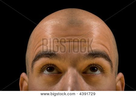 Bald Man Thinking