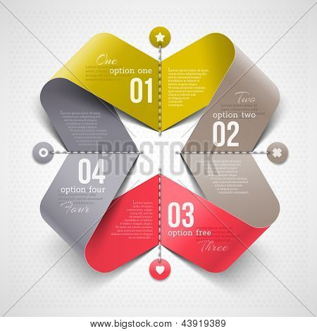Abstract shape with infographics elements - vector illustration