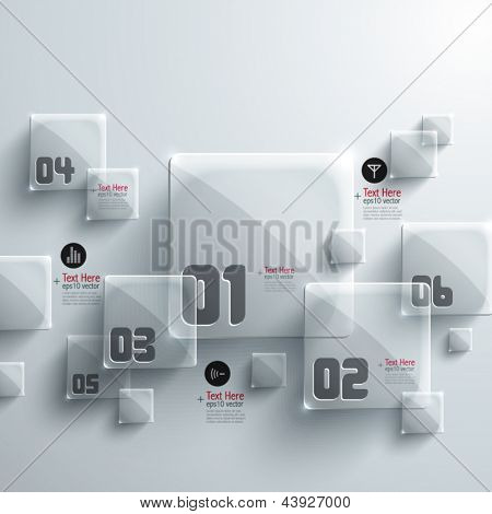 Abstract 3D Glass Graphics