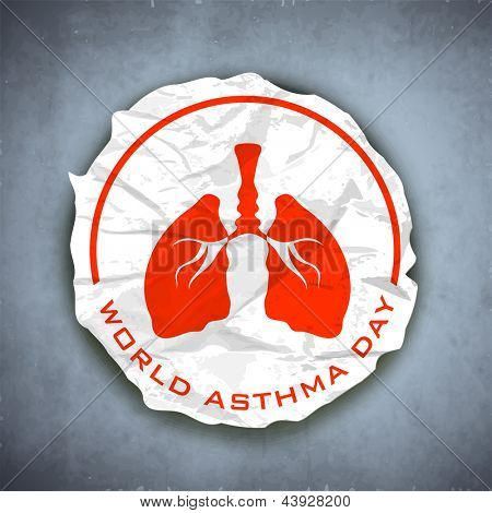 World asthma day background with lungs.
