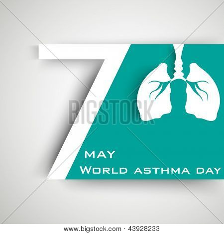 World asthma day background with lungs. poster
