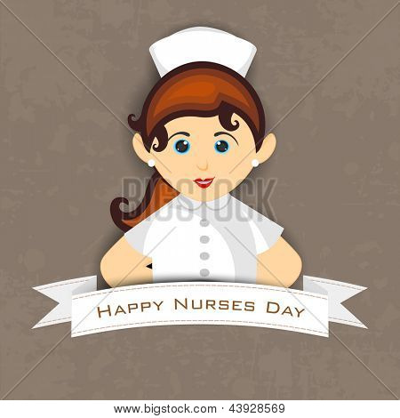 International nurse day concept with illustration of a beautiful nurse,