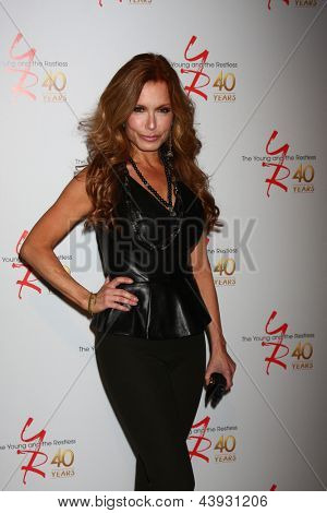 LOS ANGELES - MAR 26:  Tracey E. Bregman attends the 40th Anniversary of the Young and the Restless Celebration at the CBS Television City on March 26, 2013 in Los Angeles, CA