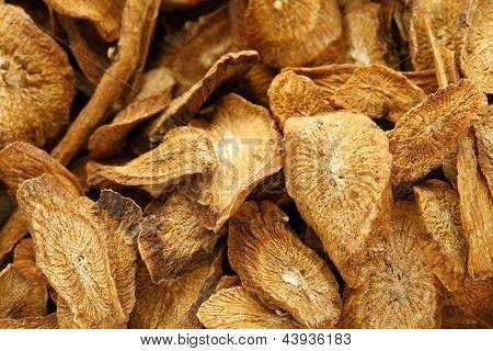 Herbal , dry burdock root poster