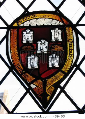 Winchester Stained Glass Window Shield (castles)