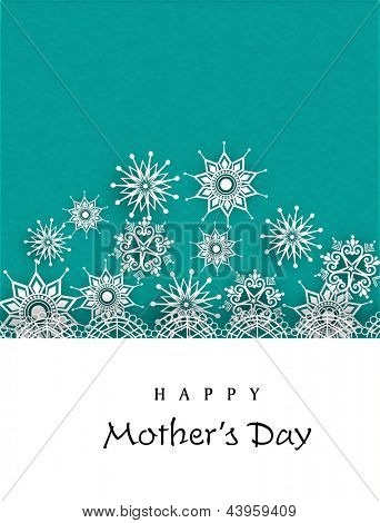 Floral decorated Happy Mothers Day background.