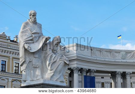 The monument to Saints Cyril and Methodius in Kiev