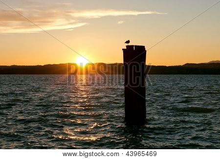 Lake Garda Golden Sunset