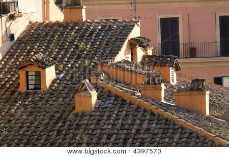 Closeup Of Italian Roof
