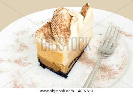 Cappuccino Cheesecake With Fork