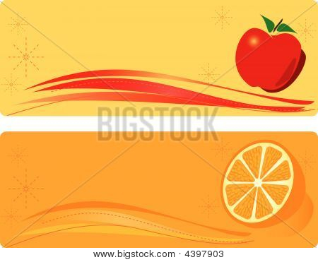 Apple And Orange Banner
