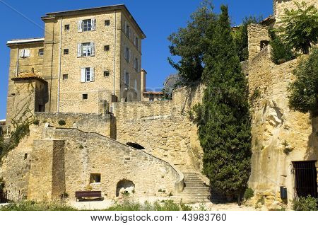 Houses Built On Rocks, Region Of Luberon, France