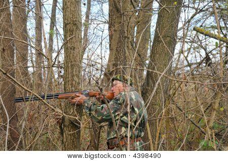 Man Aiming For Shot