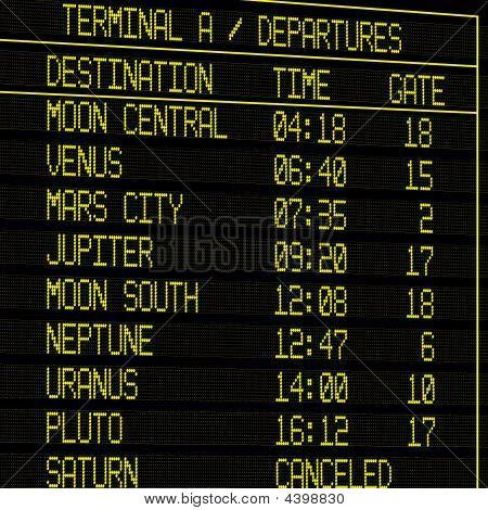 Future Flight Timetable