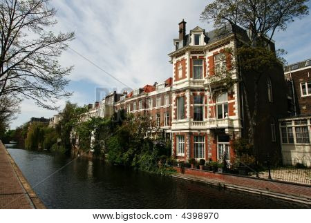 Canal With Historical Houses