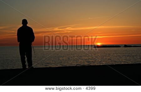Fishing At Sundown