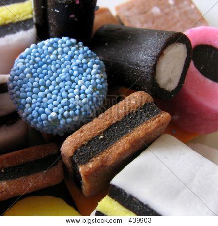 Liquorice Sweets Closeup