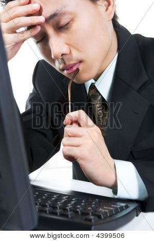 Stress Young Businessman