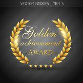 golden award label design illustration poster